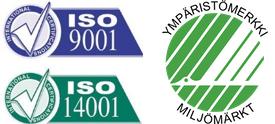 ISO9001, ISO14001, Joutsenmerkki